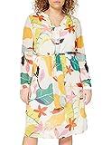 ESPRIT Collection Damen 040EO1E313 Kleid, Off White 4 (113), 36