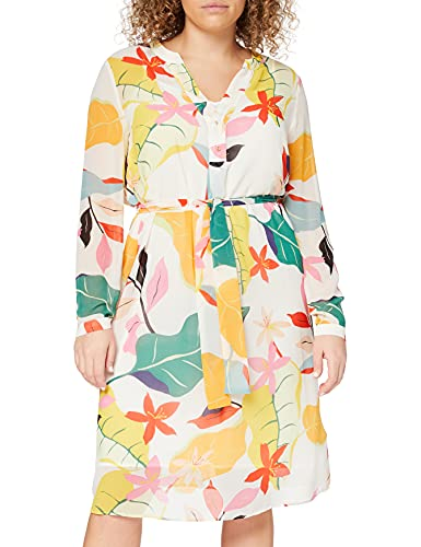 ESPRIT Collection Damen 040EO1E313 Kleid, Off White 4 (113), 40