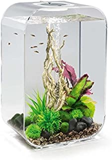 Life 15 Aquarium with LED Light - 4 Gallon, Black
