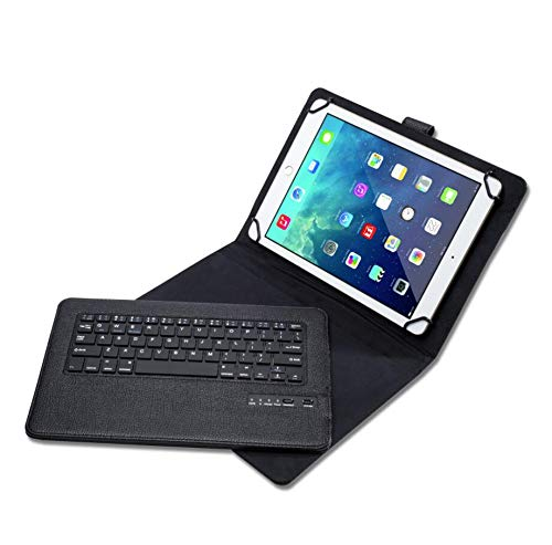 WLWLEO Universal Tablet Case voor 9 inch / 10,1 inch tablet met draadloos Bluetooth toetsenbord voor iOS, Android, Windows