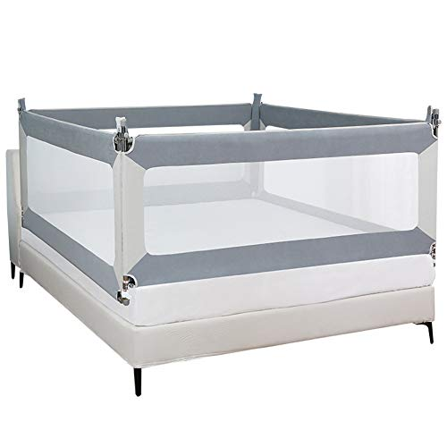 Babybettgitter, Baby Bettgitter, Verstellbare, Schutz Gitter, Vertikalen Heben, Fallschutz, Sicherheitsschutz, Einfache Montage, 3 Farben, für Sicherheit beim Schlafen