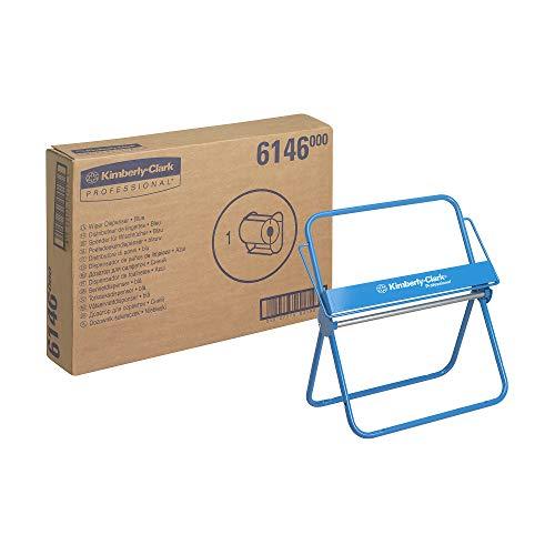 Kimberly-Clark 06146000 6146 Dispensador de Paños en Bobinas, Para Montaje en Pared o de Pie, Acero, Azul