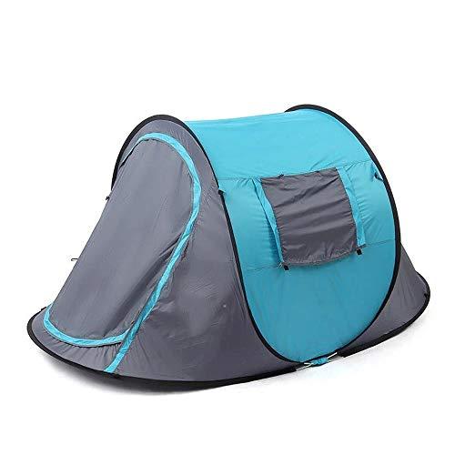 NEHARO Tienda de Campaña Oxford Tela de poliéster Que acampa Impermeable de campaña 2-3 Tienda de campaña automática Camping Carpa Impermeable Ligera Senderismo (Color : Blue, Size : 220x120x95cm)
