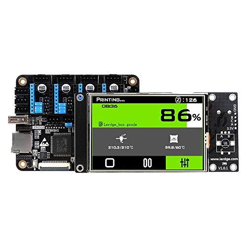 Ji Yun Carte contrôleur intégré avec Mainboard écran Tactile LCD 3,5 Pouces + 32 Bits Coretx-M4 de Base Unité de contrôle + 4pcs Noir TMC2100 Moteur Pas for Reprap imprimante 3D