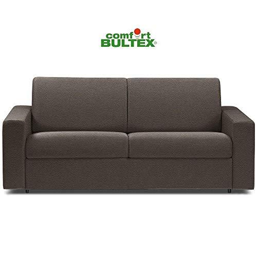 Canapé Convertible rapido CRÉPUSCULE Matelas 120cm Comfort BULTEX® Simili PUtaupe