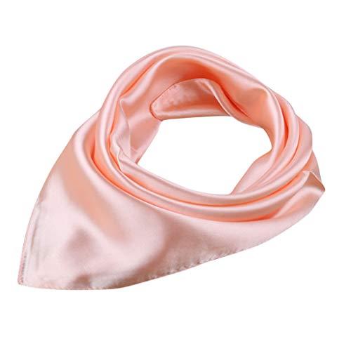 Andouy Einfarbig Bandana Kopftuch Halstuch Neck Gaiter Einstecktücher Handgelenk Unisex Multifunktionstuch (60X60CM.Roségold)