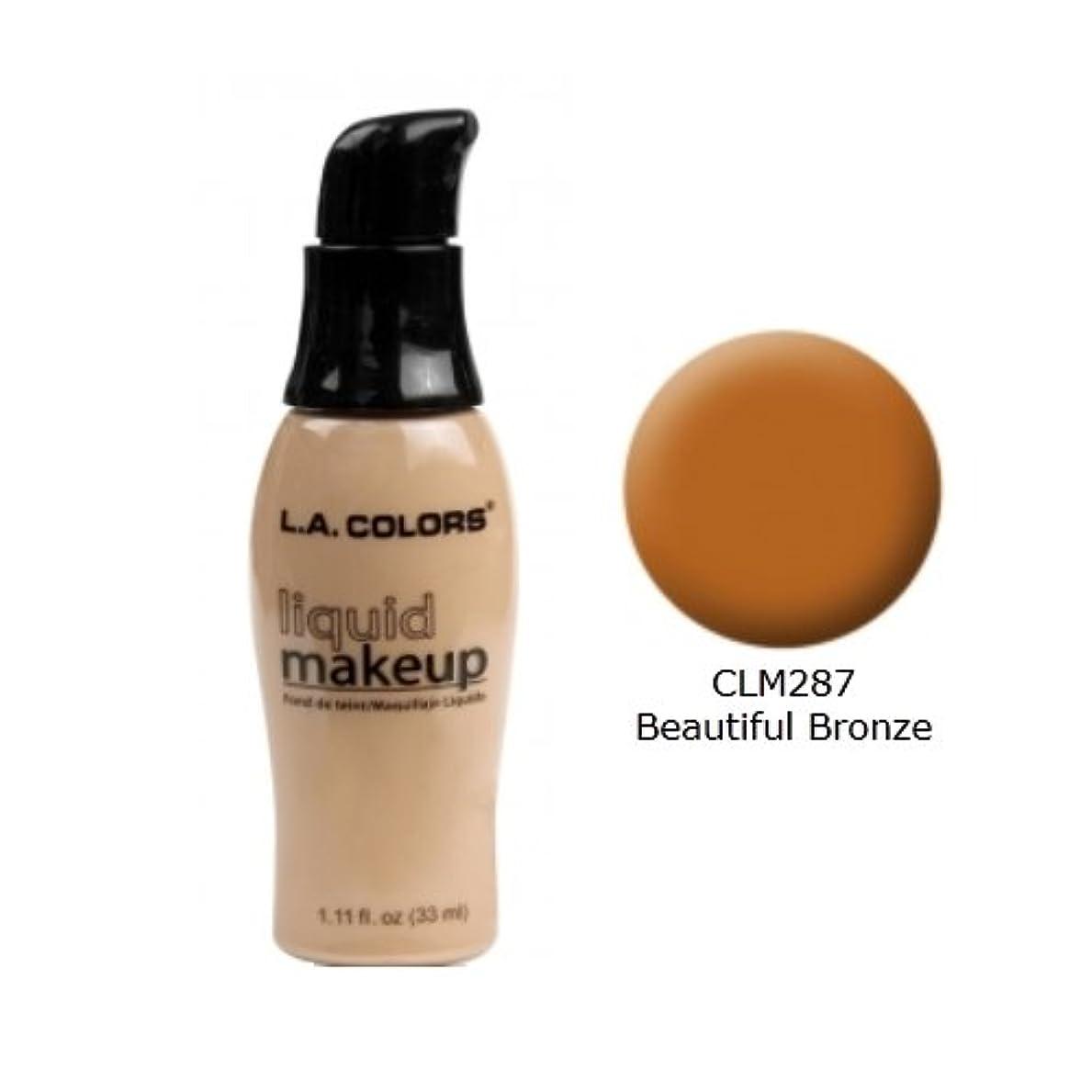 居心地の良い興奮する検出する(6 Pack) LA COLORS Liquid Makeup - Beautiful Bronze (並行輸入品)