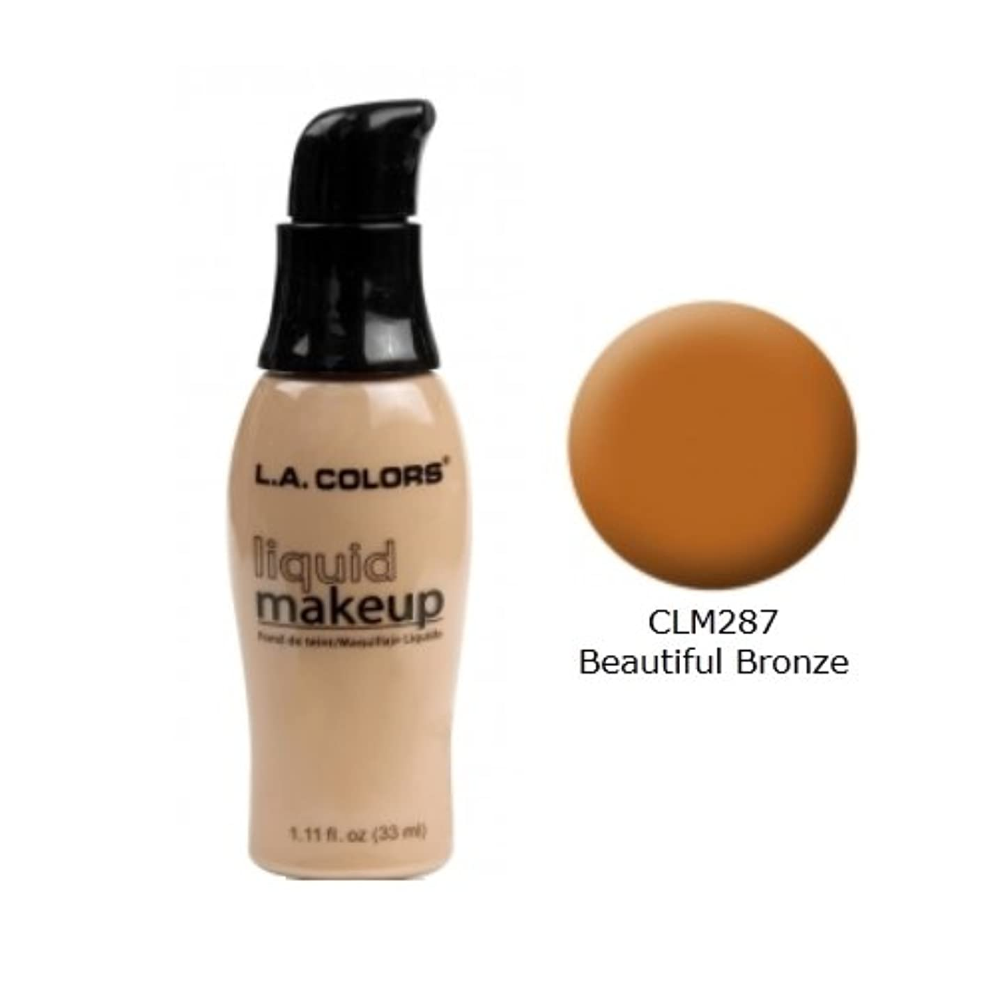 アラブ手伝うパトワ(6 Pack) LA COLORS Liquid Makeup - Beautiful Bronze (並行輸入品)