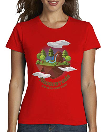 latostadora - Camiseta Camnav-01 para Mujer Rojo S