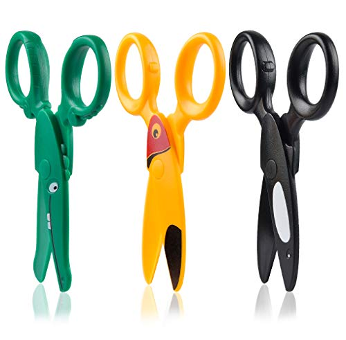 Sopito 3PCS Children Safety Scissors Toddler Craft Scissors Preschool Training for Kids Cutting Paper