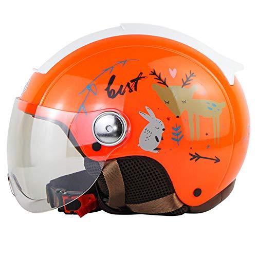 ABDOMINAL WHEEL Casco Moto Abierto,Cascos De Motocicleta para Hombres Y Mujeres con Visera Solar,Certificación ECE Material ABS,Forro Extraíble Anticolisión Casco Moto D,M=57~58CM