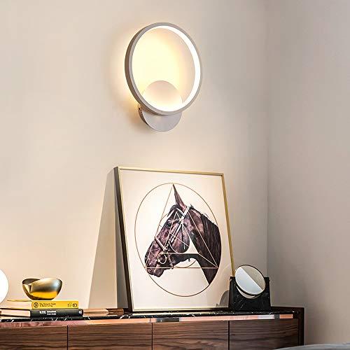 HIL Persönlichkeit Führte Runde Wandlampe Nachttischlampe, Moderne Unbedeutende Kreative Wohnzimmergangwandlampe Nordic-Schlafzimmerlampe,30 * 25 * 6cmwarmlight