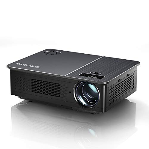 Native 1080P Projector, Crenova 5800 Lux Home LED Movie Projector 4K Supported Full HD Video Outdoor Projector with...