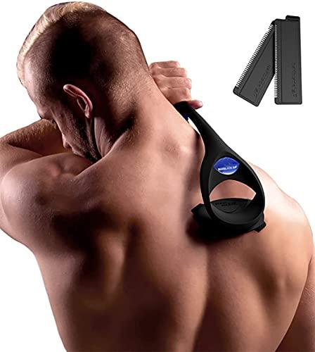 Shinehealth 2.0 Rückenrasierer Herren, Rückenrasierer Körperrasierer Rücken-Rasierapparate mit 2 Klingen, Körperrasierer für Männer schmerzfrei rasieren unter Nass oder Trocken