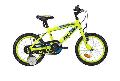 Atala Bicicletta da Bambino Splash 16', 1 velocità, Colore Giallo Neon - Blu