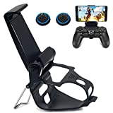 PS4 Controller Phone Clip Mount Holder, BRHE Android/iOS Mobile Phone Bracket Game Clamp Adjustable Stand [New Upgrade]