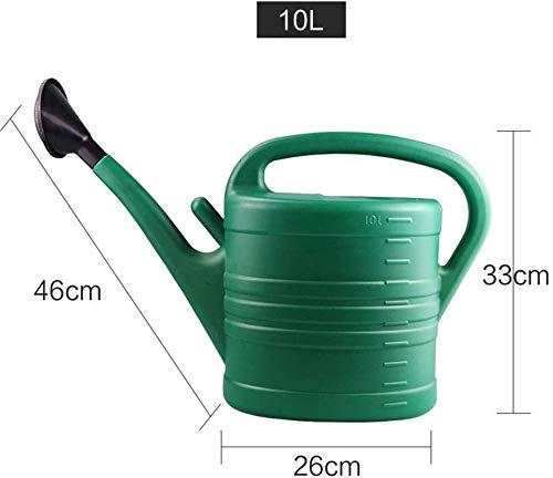 10 liter gieter voor huishoudelijk gebruik, balkon, bewateringsgereedschap voor groenten, grote capaciteit, lange gieter (maat: B) Soul Hill C