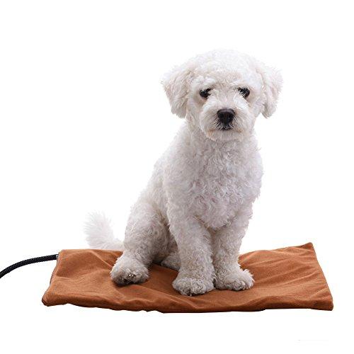 Almohadilla térmica eléctrica para mascotas, 30 x 40 cm, impermeable, para gato, perro, cachorro, calentador, calentador, manta de cama y cojín de calefacción