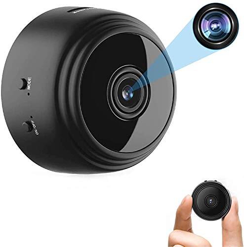 Mini Cámara Vigilancia WiFi Cámara de vigilancia inalámbrica HD 1080P Videocámara Portátil con visión Nocturna...