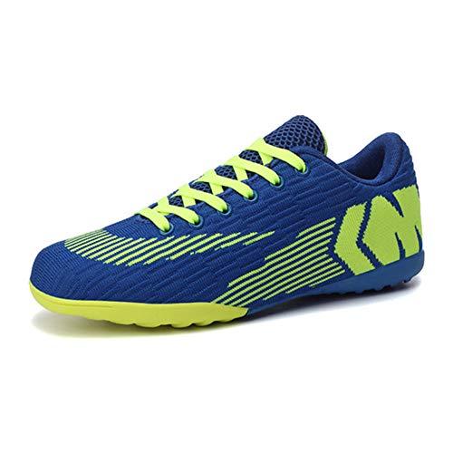 Zapatos de fútbol transpirables para niños Zapatos de fútbol con cordones para hombre, color Azul, talla 42 2/3 EU