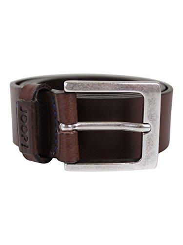 Joop! Herren Ledergürtel Casual Belt 4cm, Größe:80cm;Farbe:Dark Brown (52)