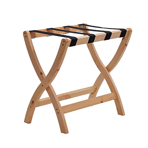 For Sale! CHAOYANG Room Luggage Holder, Hotel Solid Wood Folding Luggage Rack, Travel Break Stool, S...
