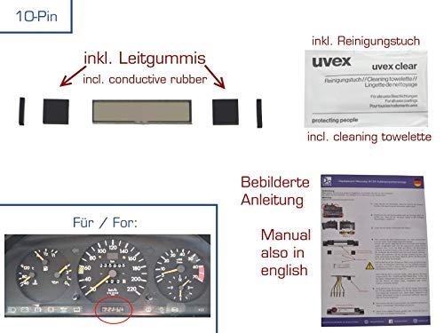 gearworks Display für E/W124 Außentemperaturanzeige/ATA/Tacho/Reparatur 10-POLIG