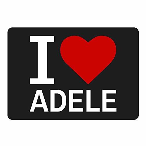 Multifanshop Mousepad Classic I Love Adele schwarz