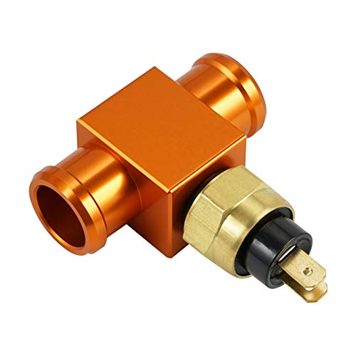 SSGLOVELIN Motorrad Temperaturschalter Kühlerlüfter Thermostat Fit für Yamaha 125-450cc yz YZF WR dt xt Ttr Fit für Kawasaki Fit für Suzuki Beta (Color : Orange)