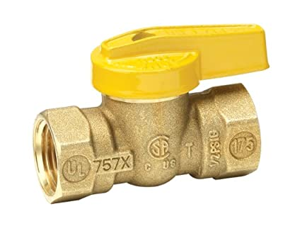Homewerks VGV-1LH-B3B Premium Gas Ball Valve, Female Thread x Female Thread, Brass, 1/2-Inch by Homewerks