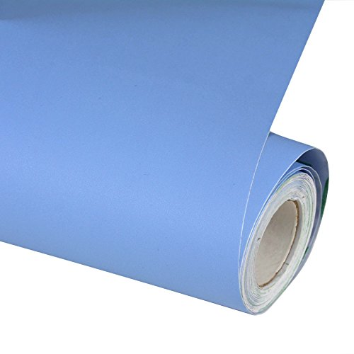 "Peel and Stick Blue Wallpaper Contact Paper 24"" by 393""(Blue)"