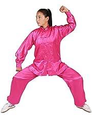 Gtagain Trajes Entrenamiento Marciales Deportiva - Unisex para Adultos Niños Niñas Manga Larga Mujeres Shaolin Kung Fu Hombres Chino Tradicional Disfraces