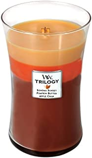 Autumn Comforts WoodWick Trilogy 21.5 oz Scented Jar Candles - 3 in One