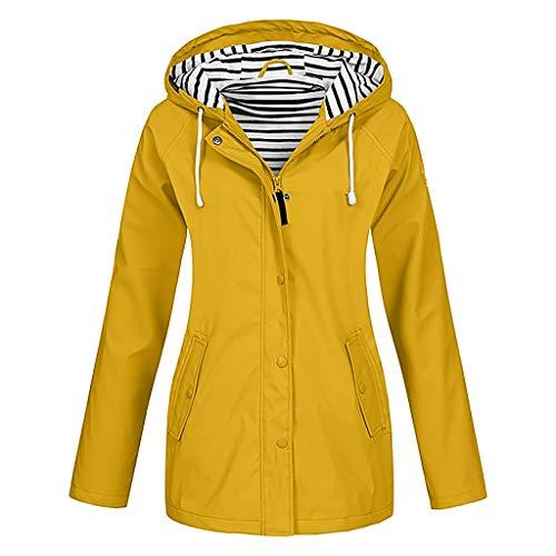 Lomelomme Damen Regenjacke Wasserdicht Atmungsaktiv Leicht Regenmantel mit Kapuze Große Größen Sportjacke Dünn Outdoor Softshell Windbreaker