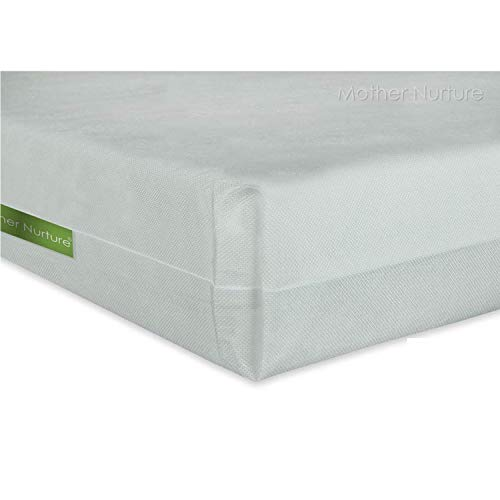 Mother Nurture Essential Travel Cot Mattress, White, 100 x 70 x 8 cm