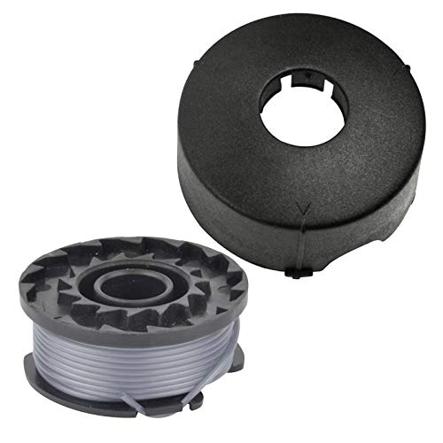Spares2go - Bobina de doble alimentación y tapa para cortacésped Bosch ART23