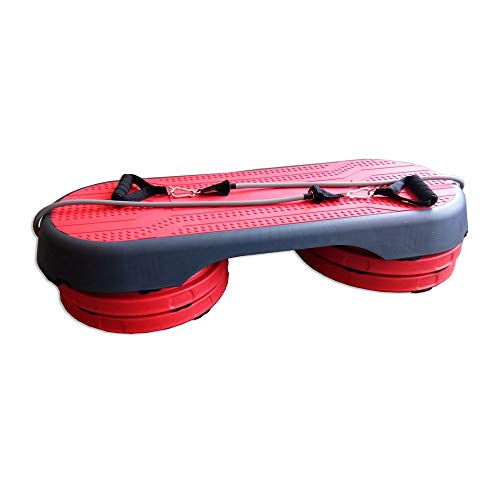 Steps de Aerobic Fitness Training Home Aerobic Stepper Board 3 Niveles Ajustable multifunción Ejercicio Stepper for Yoga Pilates Family Fitness Gym (Color : Red, Size : 107cm)