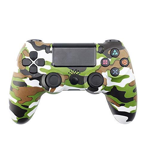 xahoas Controlador Inalámbrico Bluetooth PS4 Controlador De Juegos PS4 De Cuarta Generación Controlador De Juegos con Joystick Bluetooth Camuflaje Verde-Nueva versión