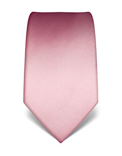 Vincenzo Boretti Corbata de hombre en seda pura, lisa rosa