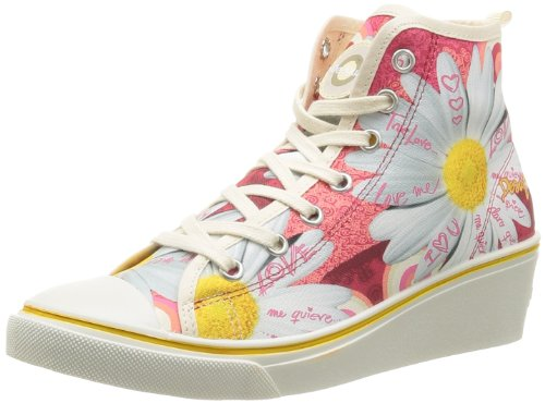 Desigual Sneaker Wedge 8 41KS1663001, Damen Sneaker, Rot (FRESA), EU 37