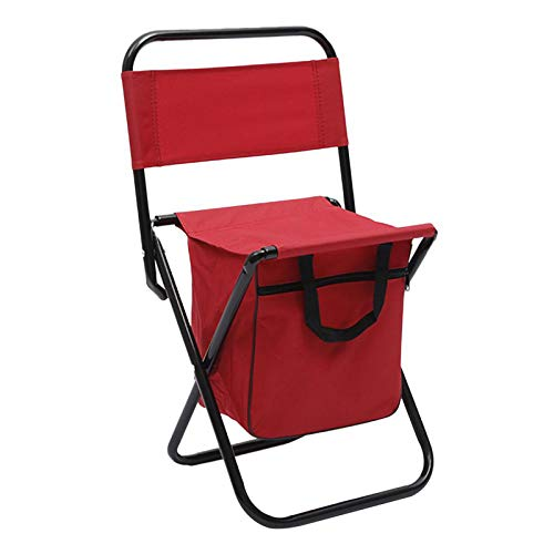 HBOY Mochila portátil ligera para exteriores, pequeña, plegable, impermeable, con respaldo de tela Oxford, para pesca, senderismo, picnic, viajes, barbacoas, color rojo