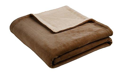 biederlack Emotionen Island Decke/Überwurf, Polyester, Cognac, 150x 200cm