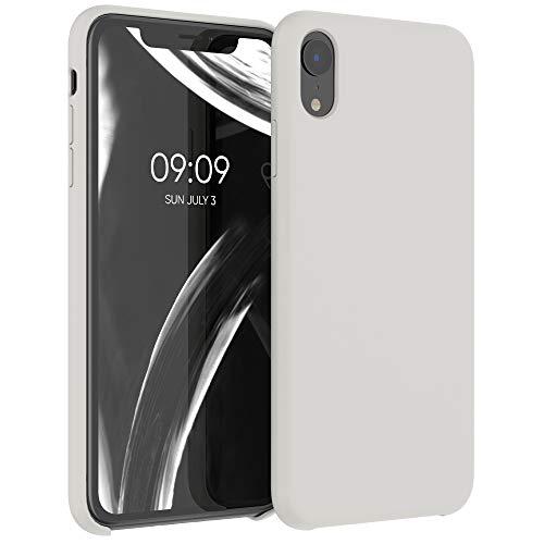 kwmobile Silikon Hülle kompatibel mit Apple iPhone XR - Hülle Handyhülle gummiert - Handy Hülle in Beige matt