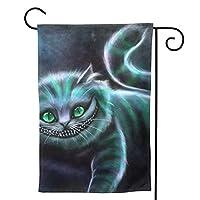 チェシャ猫 のぼり旗 ガーデンフラッグ 両面 防風 サイン 休日を祝う 美しい 庭の装飾 アンティークの冬 ガーデンバナー ファッション 屋外装飾 贈り物