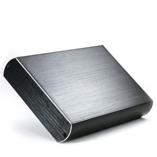 CSL - 3,5 Zoll Festplattengehäuse USB 3.0 Super Speed Aluminium HDD - Festplatten-Gehäuse für SATA I II III - Optik Alu gebürtstet - kompatibel zu USB 2.0 - extern - schwarz