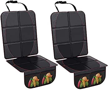 2-Pack Wellkool Car Seat Protectors With Organizer Pockets