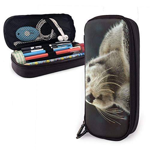 shenguang Sea Lazy Pencil Case Große Kapazität Stiftmarker Halter Beutel Box Make-up Bag Leder Große Aufbewahrung Briefpapier Organizer mit Reißverschluss für Schulbüro