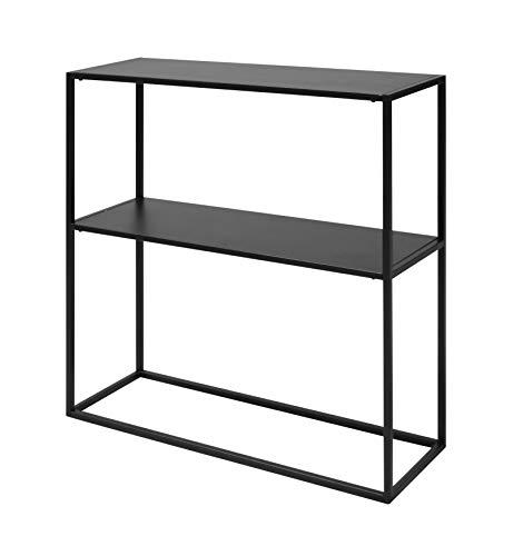 AC Design Nino Regal, schwarz, Metall, B: 79,5 x H: 80,5 x T: 26 cm, 1 Stück
