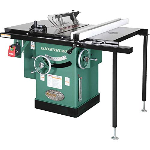 """Grizzly Industrial G1023RLWX - 10"""" 5 HP 240V Cabinet Table Saw with Built-in Router Table"""