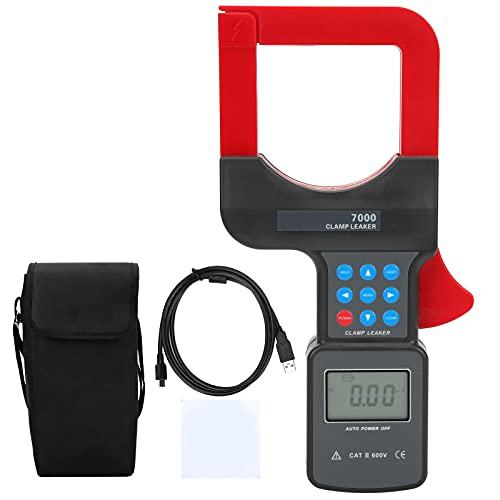 Pinza amperimétrica digital, pinza amperimétrica de corriente con varios botones para prueba de corriente para medir la corriente de fuga de CA